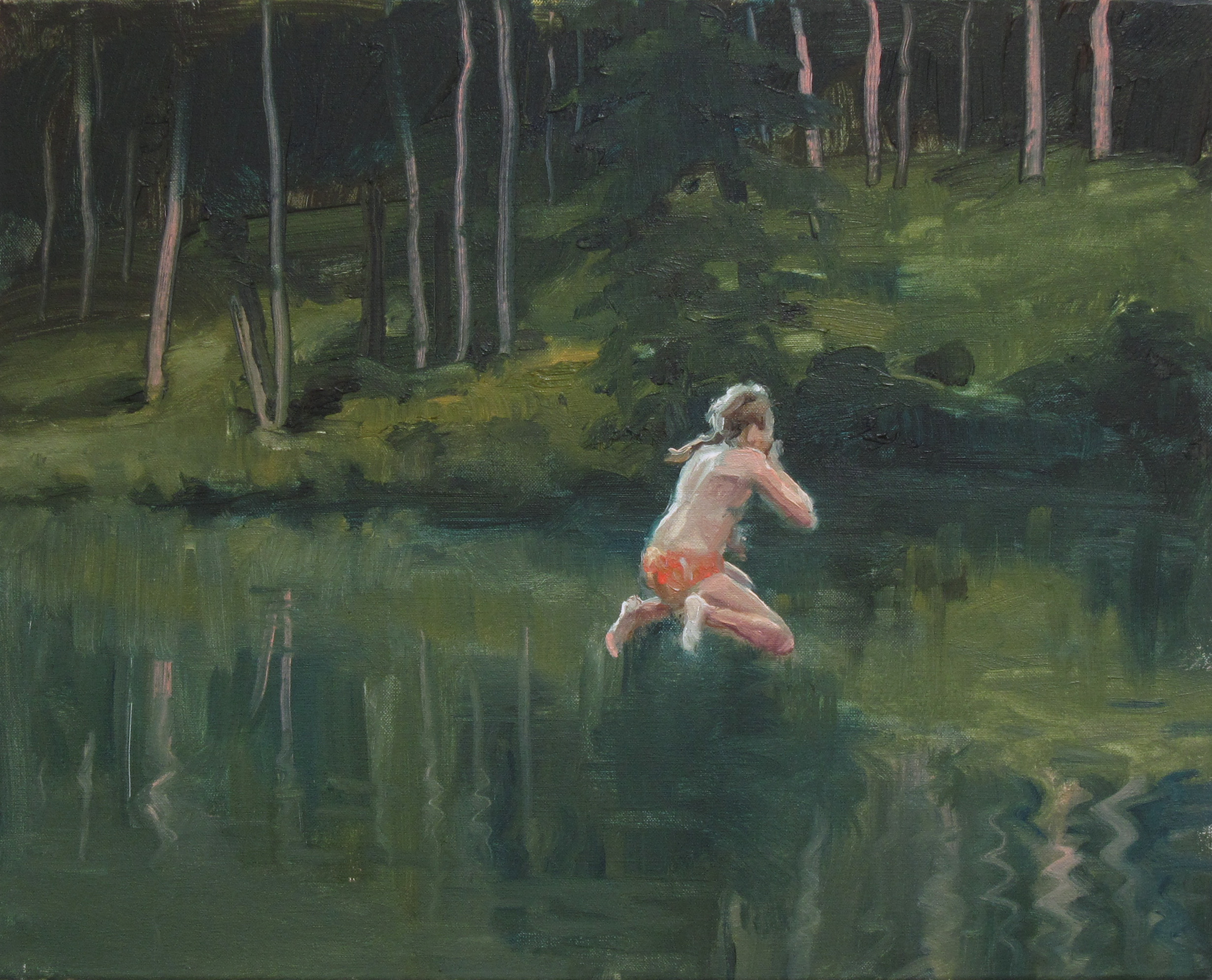Jump one - oil on canvas - 50 x 65 cm - 2015